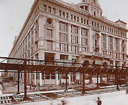 The Siegel & Cooper department store, on 6th Avenue and 18th Street, in the heart of Ladies' Mile, under construction in the year of its opening 1896.(Photo by Museum of the City of New York/Byron Collection/Getty Images)