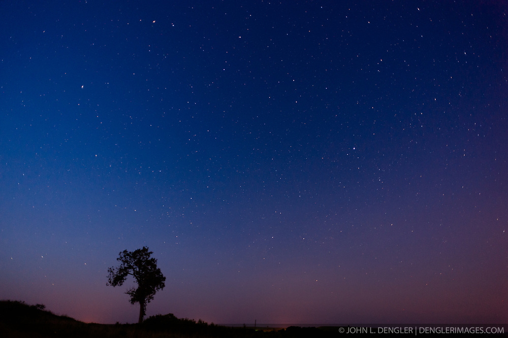 Stars over prairie, Tallgrass Prairie National Preserve ...