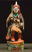 Hopi Katsina figure (AKA kachina doll); Heard Museum, Phoenix, Arizona.