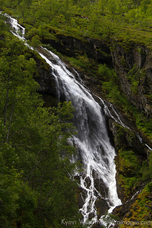 Europe, Norway, Flam. Waterfall of Flam.