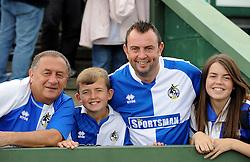 Bristol Rovers fans - Mandatory byline: Neil Brookman/JMP - 07966386802 - 15/08/2015 - FOOTBALL - Huish Park -Yeovil,England - Yeovi Town v Bristol Rovers - Sky Bet League One