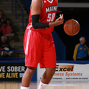 Maine Red Claws Center RALPH SAMPSON III (50) dribbles the ball at the top of the key in the first half of a NBA D-league regular season basketball game between the Delaware 87ers and the Maine Red Claws  Friday, Feb. 05, 2016 at The Bob Carpenter Sports Convocation Center in Newark, DEL.