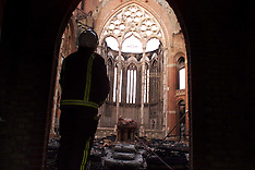 JUN 9 2000 All Saints Church Fire