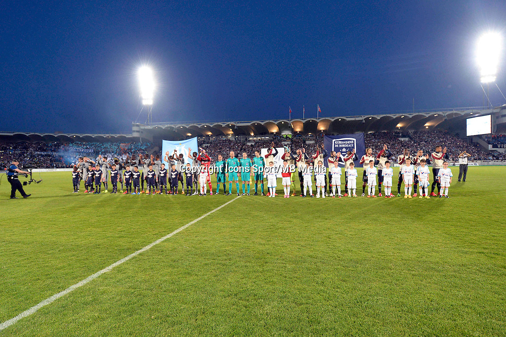 Presentation des Equipes  - 12.04.2015 - Bordeaux / Marseille - 32eme journee de Ligue 1 <br />Photo : Caroline Blumberg / Icon Sport
