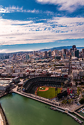 Aerial photos of San Francisco Skyline.