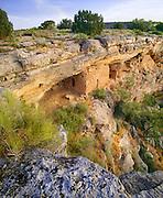 0110-1009 ~ Copyright:  George H. H. Huey ~ Sinagua culture cliff dwelling below the rim of Montezuma Well.  Montezuma Castle National Monument, Arizona.