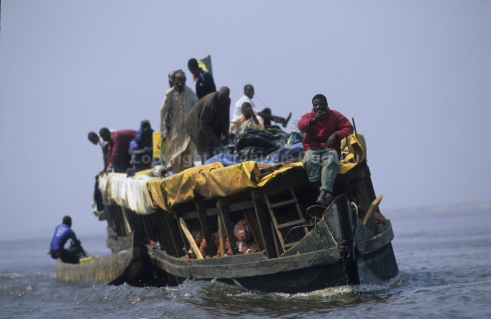 PASSENGER BOAT ON THE CONGO RIVER, CONGO