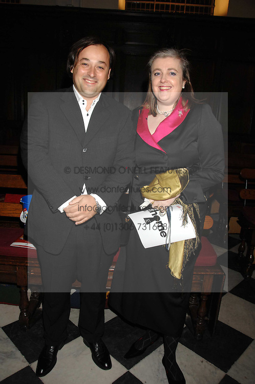 JOVAN DJUROVIC and PHILLIPA MONCKTON at a Christmas Concert in aid of The Children's Trust at The Royal Hospital, Chelsea, London on 3rd December 2007.<br />