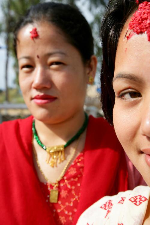 Women after praying at Swastani Sangya ceremony. @ Martine Perret. 1 February 2007