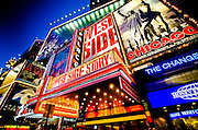 Front of the Palace Theater in Times Square, Manhattan, New York, 2010.