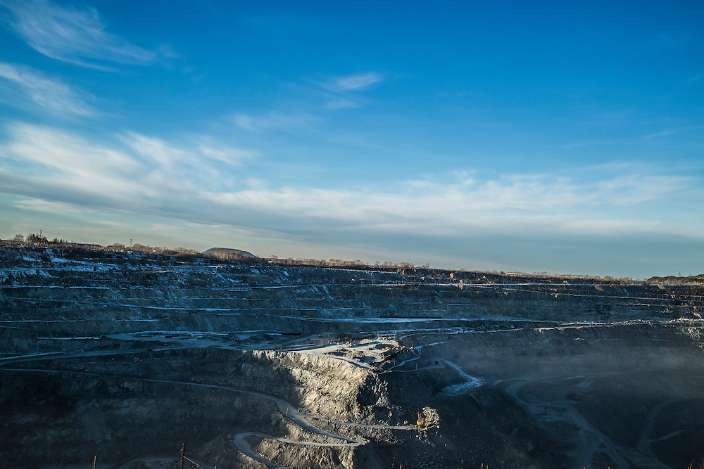 The Uralasbest asbestos mine on Sunday, November 24, 2013 in Asbest, Russia.