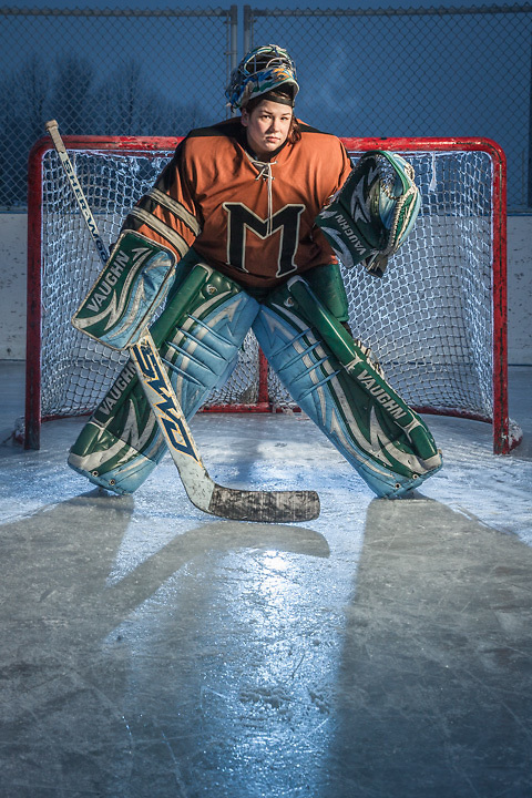 """Retired professional hockey goalie, O'Hara Shipe, Anchorage.  """"I have to stop this nonsense, my body is a disaster area."""""""