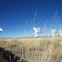 High desert plains grass meets one of the most cutting edge scientific instruments on Earth.