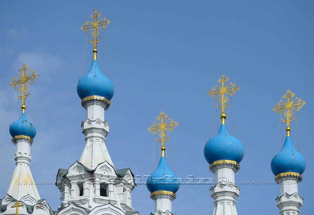 Orthodox Church's Cupola with Holy Crosses.