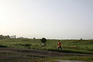 An Uzbek running in Angren