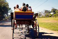 Horse and carriage in Bayamo, Granma, Cuba.