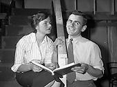 "1959 - Damer Hall Rehersal of Frank Carney's ""Siul Barr Cnoic"""
