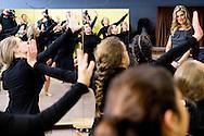 2-12-2016 WAALRE - Queen Maxima visit Friday, December 2nd community Splendour in Waalre. The community this year is one of three winners of a Appeltje of Oranje.De Splendour since 1981 the activity and meeting place for the inhabitants of Aalst Waalre and the Ekenrooi district in particular. Many activities, courses and events to put them on, brings Splendour connection and togetherness in the small Brabant village. Splendor also offers facilities for some 35 local associations and clubs. In addition, the center is a partner of the municipality in the area of care and welzijn.COPYRIGHT ROBIN UTRECHT<br /> <br /> 2-12-2016   WAALRE - Koningin Maxima bezoekt vrijdag 2 december gemeenschapscentrum De Pracht in Waalre. Het gemeenschapscentrum was dit jaar een van de drie winnaars van een Appeltje van Oranje.De Pracht is sinds 1981 het activiteiten- en ontmoetingscentrum voor de bewoners van Aalst-Waalre en voor de wijk Ekenrooi in het bijzonder. Door veel activiteiten, cursussen en evenementen voor hen op te zetten, brengt De Pracht verbinding en saamhorigheid in het kleine Brabantse dorp. Ook biedt De Pracht faciliteiten voor zo&rsquo;n 35 lokale verenigingen en clubs. Daarnaast is het centrum een partner van de gemeente op het gebied van zorg en welzijn.COPYRIGHT ROBIN UTRECHT