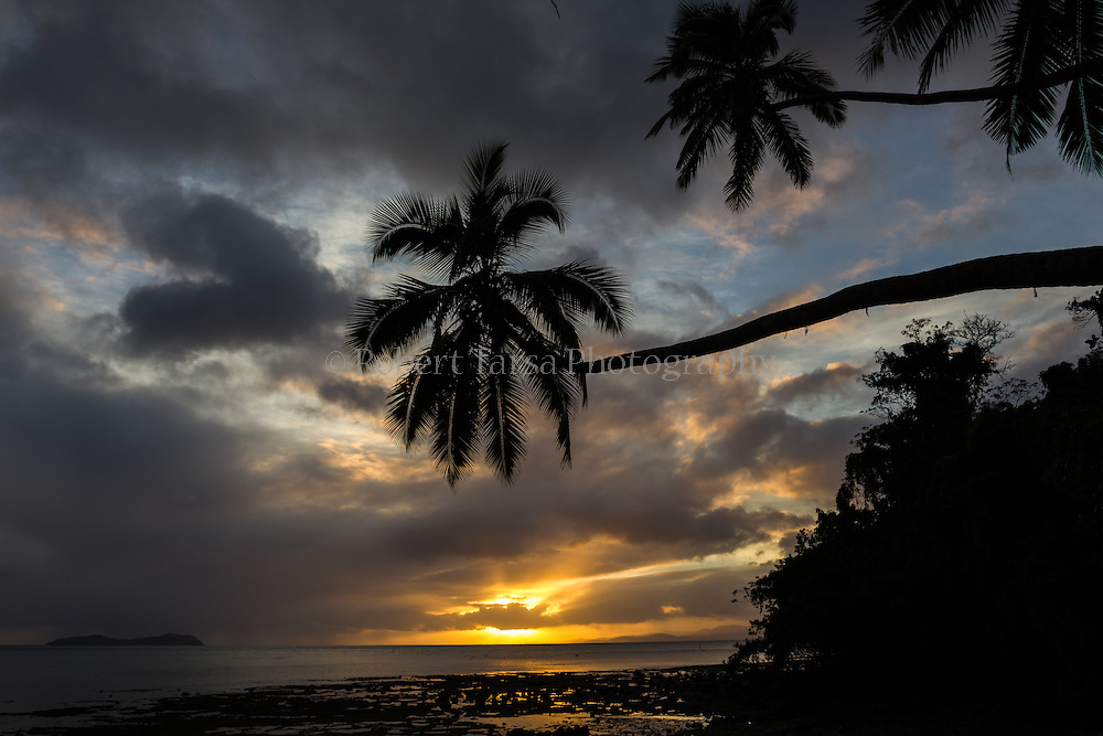 Sunset from Bega Lagoon Resort, Fiji.