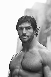 shirtless man outdoors
