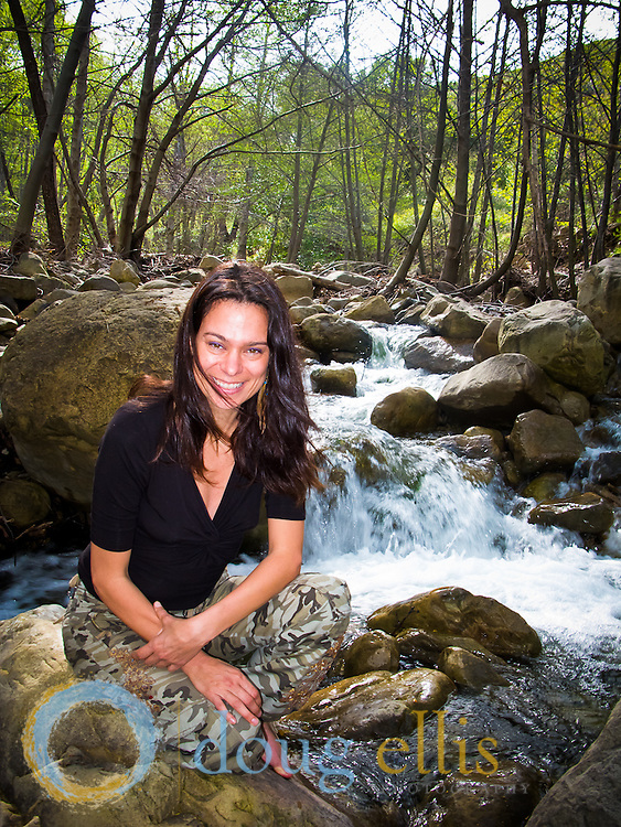 River outdoor portraits near Santa Barbara CA