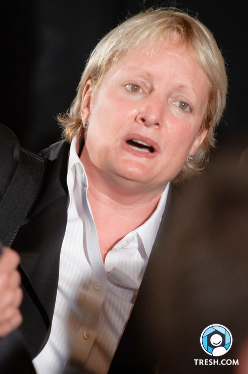 Elizabeth Birch following President Obama's remarks to commemorate the enactment.of the Matthew Shepard and James Byrd, Jr. Hate Crimes Prevention Act in the East Room of the White House, Wednesday, October 28, 2009.