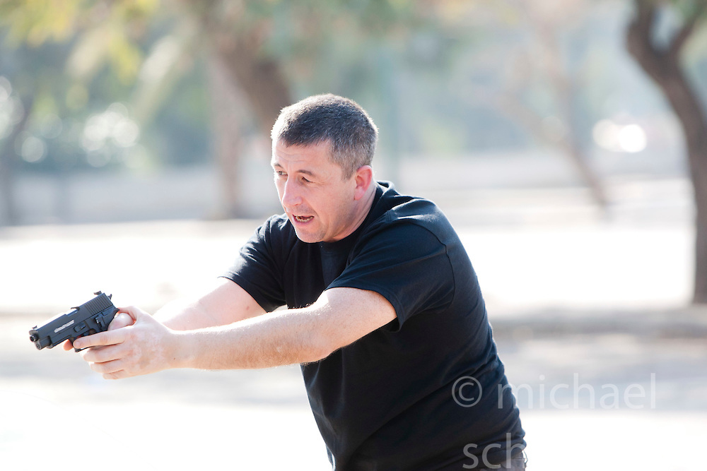 Monday 3rd Jan, 2011. Day four, Maneuverable Driving. Train & Travel is a unique ten day program designed for IKMF's instructors, students & guests, interested in combining Krav Maga training with a tour of the holy land. .©2011 Michael Schofield. All Rights Reserved.
