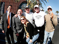30 May 2007: Agent Pat Brisson, Commissioner Gary Bettman, actor James Caan, actor Ray Leota and trainer TR Goodman before the NHL Anaheim Ducks defeated the Ottawa Senators 1-0 in game two of the Stanley Cup playoffs in the sold out Honda Center in Southern California.