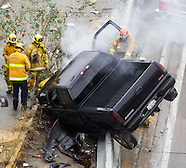 Rainy Day Car Accident in Los Angeles