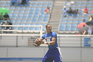 Water Valley quarterback E.J. Bounds throws during Southeast Select Combine in Tupelo, Miss. on Saturday, May 25, 2013.