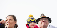 19-2-2014 - FALUN  Princess Estelle and princess Victoria , prince Carl Philip and fiancée Sofia Hellqvist and king Carl Gustaf and Queen Silvia. during the finals of the Cross Country Falun 2015 FIS Nordic World Ski Championships 2015 in Sweden . COPYRIGHT ROBIN UTRECHT