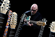 Frankfurt am Main | August 18, 2013<br /> <br /> Rock and Blues guitar grandmaster Andreas Schmid Martelle with his collection of Danelectro electric guitars.<br /> <br /> &copy;peter-juelich.com