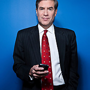 Peter Barnes of Fox News poses for a portrait in Washington, DC, November 11, 2009. Shot for Philadelphia Magazine.