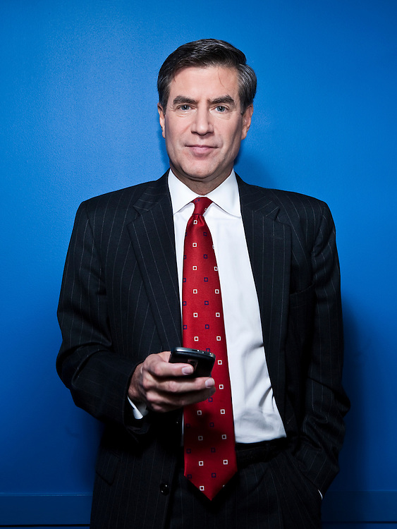 Peter Barnes of Fox News poses for a portrait in Washington, DC, November 11, 2009. Shot for Philadelphia Magazine.