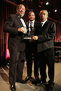 New York, NY-April 18: (L-R)  Honoree Richard Parsons, Alfred Leggins, III and Rev. Al Sharpton attends Rev. Al Sharpton's National Action Network's Keeper of the Dream Awards held at Cipriani's Wall Street on April 18, 2012 in New York City. (Photo by Terrence Jennings)