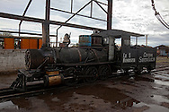 Steam engine in Rafael Freyre, Holguin, Cuba.
