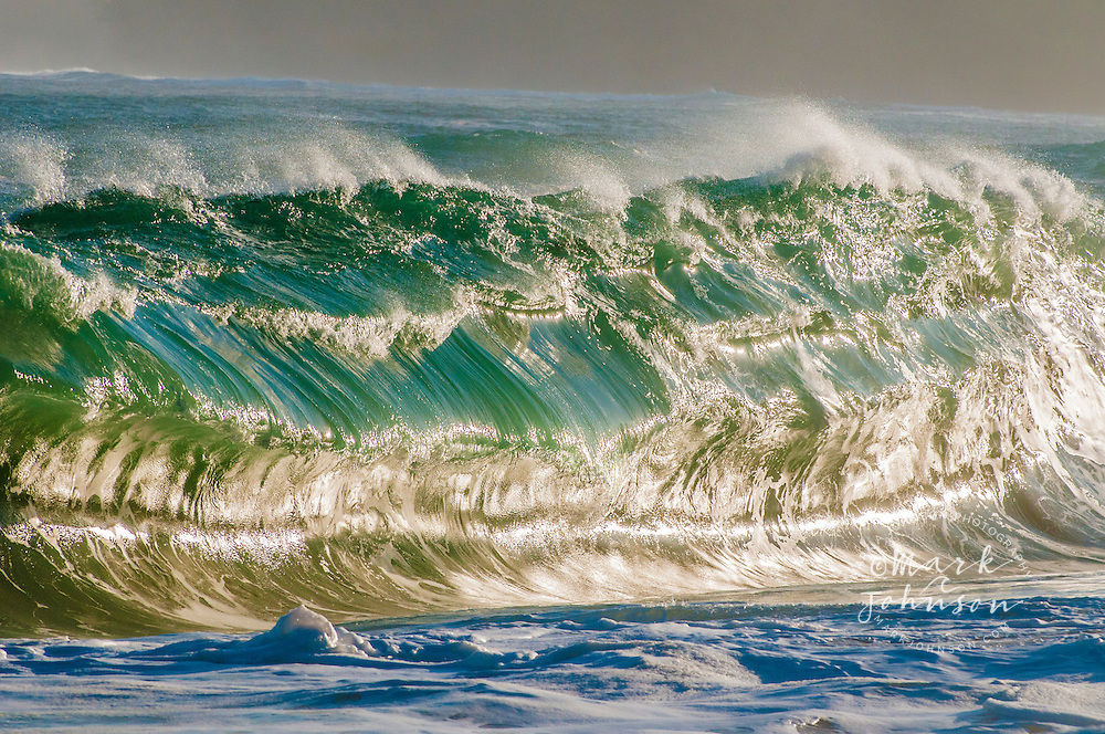 Breaking ocean wave, Kauai, Hawaii