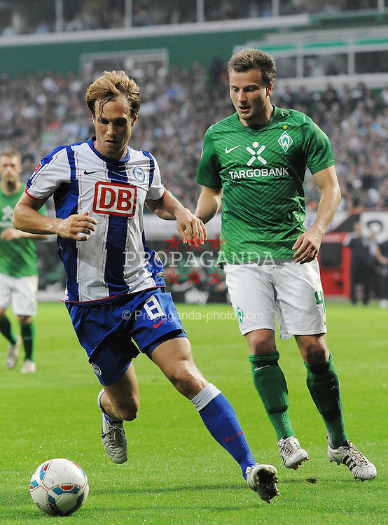 25.09.2011, Weserstadion, Bremen, GER, 1.FBL, Werder Bremen vs Hertha BSC, im Bild Andreas Ottl (Berlin #8), Philipp Bargfrede (Bremen #44)..// during the match Werder Bremen vs Hertha BSC on 2011/09/25, Weserstadion, Bremen, Germany..EXPA Pictures © 2011, PhotoCredit: EXPA/ nph/  Frisch       ****** out of GER / CRO  / BEL ******
