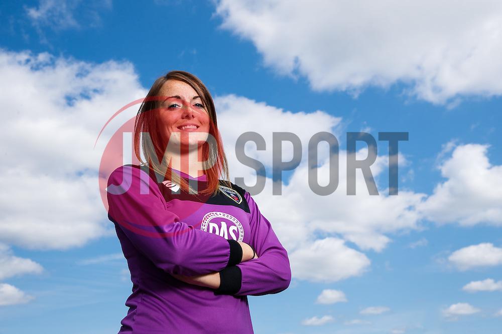 Hannah Reid poses for a portrait - Mandatory byline: Rogan Thomson/JMP - 07966 386802 - 09/07/2015 - SPORT - Football - Bristol, England - SGS Wise Campus, Filton - Bristol Academy Womens FC New Signings.