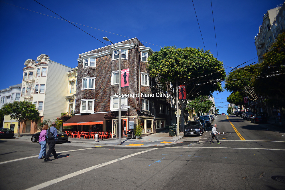 Streets of San Francisco, California.