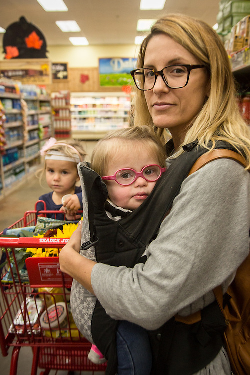 """""""I want to be an avocate for kids with special needs.""""  -Crystal Eiser with daughters at Trader Joe's in Concord, CA."""
