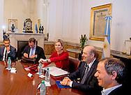 2-10-2016 BUENOS AIRES  - Meeting with President of Central Bank, Mr. Federico Sturzenegge  ,  Queen Maxima visit Argentina in its role of special advocate of the Secretary-General of the United Nations for Inclusive Finance for Development. COPYRIGHT ROBIN UTRECHT NETHERLANDS ONLY Koningin Maxima  bezoek Argentinie in haar functie van speciale pleitbezorger van de secretaris-generaal van de Verenigde Naties voor Inclusieve Financiering voor Ontwikkeling. COPYRIGHT ROBIN UTRECHT NETHERLANDS ONLY