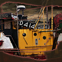 Ship rusting in Dublin harbour in Ireland