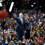 Sen. John McCain and Gov. Sarah Palin accept their party's nomination to be the Republican Presidential and Vice-Presidential candidate on the fourth day of the Republican National Committee (RNC) Convention Thursday, September 4, 2008, in St. Paul, Minnesota (MN).  ..Photo by Khue Bui