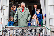 16-4-2017 - AARHUS - - birthday celebration on the balkony marselisborg palace  Queen Margrethe, Prince Henrik, Crownprince Frederik, Crownprincess Mary, Prince Christian, Princess Josephine of Denmark, Princess Isabella of Denmark, Prince Vincent of Denmark, Prince Christian of Denmark, Prince Nikolai of Denmark, Prince Felix of Denmark, Princess Athena of Denmark Princess Isabella, Prince Joachim, Princess Marie, Prince Nikolai, Prince Felix and Prince Henrik jr celebrate the 77th Birthday of Queen Margrethe and wave to the danish people at the balcony of  marselisborg Palace in AARHUS , 16 April 2017. COPYRIGHT ROBIN UTRECHT<br /> 16-4-2017 - AARHUS -- Koningin Margrethe, Prins Henrik, kroonprins Frederik, Kroonprinses Mary, prins Christian, prinses Isabella, prins Joachim, Prinses Marie, Prins Nikolai, Prins Felix en prins Henrik jr viert de 77ste verjaardag van koningin Margrethe en zwaaien naar de deense mensen op het balkon van Paleis marselisborg  in Aarhus , 16 april 2017. COPYRIGHT ROBIN UTRECHT
