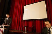 Henk Krol houdt zijn eerste toespraak als lijsttrekker. In Hilversum houdt de 50Plus partij haar verkiezingscongres. Tijdens het partijcongres wordt Henk Krol gekozen tot de lijsttrekker. Jan Nagel is de partijvoorzitter. <br /> <br /> Henk Krol gives his first speech as leader. The 50Plus party, a political party aiming mostly at the people of 50 years and older, is having its congress in Hilversum. Henk Krol, former chief editor of the Gaykrant, is elected as leader. Jan Nagel is the chairman.