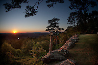 Sunset from the west side of Petit Jean Mountain in Arkansas.
