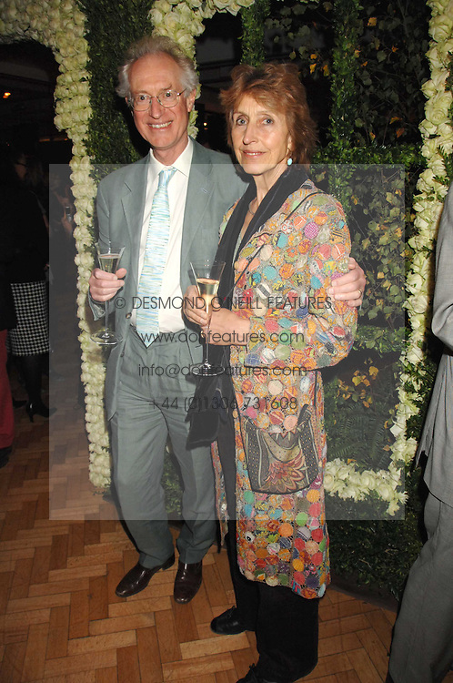 Broacaster BAMBER GASCOIGNE and his wife CHRISTINA at a party to celebrate the 60th anniversary of House &amp; Garden magazine held at Bonhams, 101 New Bond Street, London on 4th October 2007.<br /><br />NON EXCLUSIVE - WORLD RIGHTS