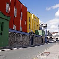 Europe, Ireland, Dublin. Dublin Castle colorrful buildings.