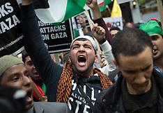 JUL 11 2014 Demonstration in London against Israeli strikes in Gaza